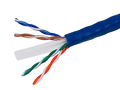 Cat6-riser (Monoprice 1000ft 23AWG CAT6500MHz, UTP, Riser spezifische Bulk Ethernet Bare Kupfer Kabel-Blau)