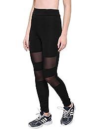 AREO Yoga Pants, Women's Power Flex Yoga Pants Tummy Control Workout Yoga Capris Pants Leggings