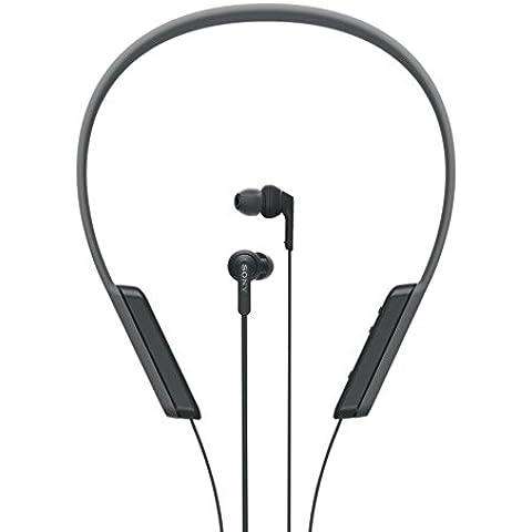 Sony MDRXB70BTB.CE7 - Auriculares deportivos Bluetooth de contorno de cuello (EXTRA BASS, NFC, LDAC, manos libres para Apple iPhone y Android, autonomía de 9 h), color negro