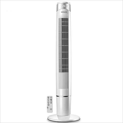 XI FAN Tragbare Klimaanlage, Mobile Klimaanlage Fan, Home Stereo Tower Fan, Fernbedienung Bodenventilator, Vertikallüfter, 55W Weiß