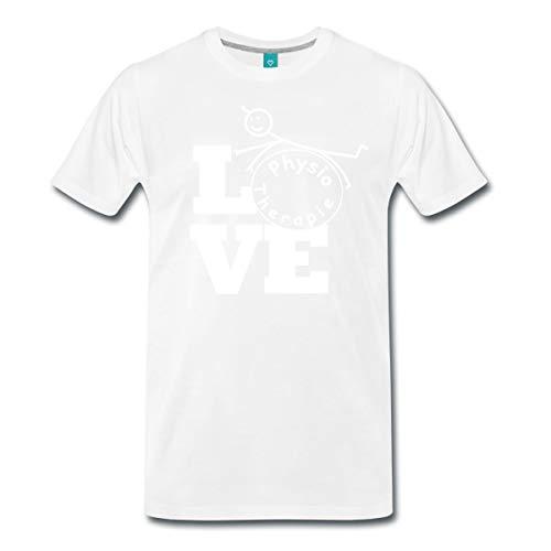 Spreadshirt Love Physiotherapie Männer Premium T-Shirt, 5XL, Weiß