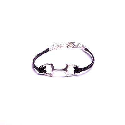 Bracelet étrier sur jonc, mors à cheval pour femmes et enfants, bijoux fantaisie fait à la main : atelier bijouterie By Mode France.