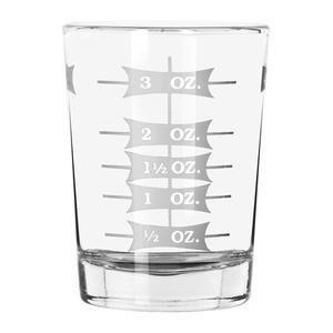 SHOT GLAS 4Oz Profi Messgerät Glas Jigger, glas, farblos, 4 oz Shot Glass Jigger