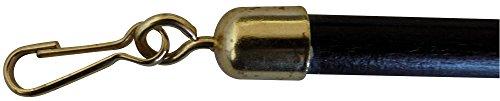 Lance rideau bois Ateliers 28 - Noyer - Diamètre 35 mm - Vendu par 1