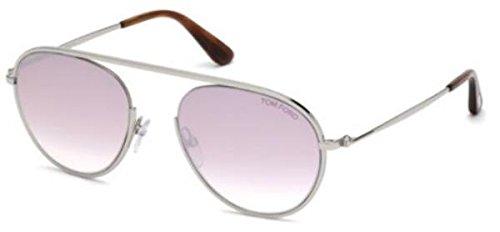 Tom Ford Unisex-Erwachsene FT0599 16Z 55 Sonnenbrille, Silber (Palladio Luc/Specchiato)