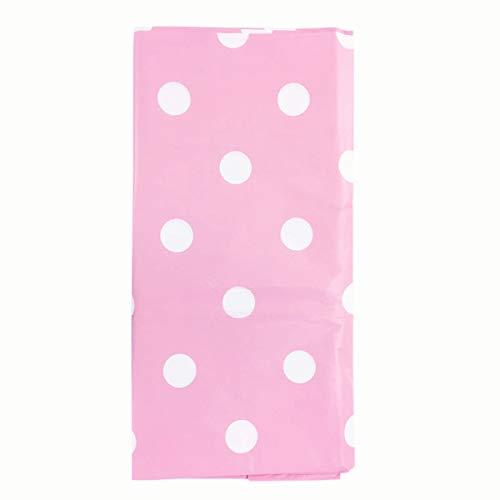 Beauarty Party Tischdecken, 3 Stück Polka Dot Tischdecke Plastik Tischdecken Einweg Tischdecken für Kindergeburtstag und Mottoparty Partys Picknick 137cm x 274cm (Rosa)