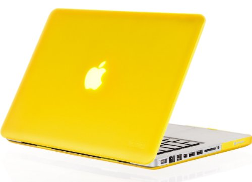 Kuzy - 15-inch YELLOW Rubberized Hard Case Cover for Apple MacBook Pro 15.4