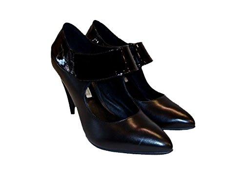 Buffalo Damen Pumps Leder 13072-474-schwarz Schwarz