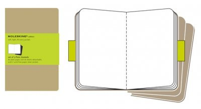 (Moleskine Cahiers Set of 3 Plain Journals) By Moleskine (Author) Paperback on (01 , 2008)