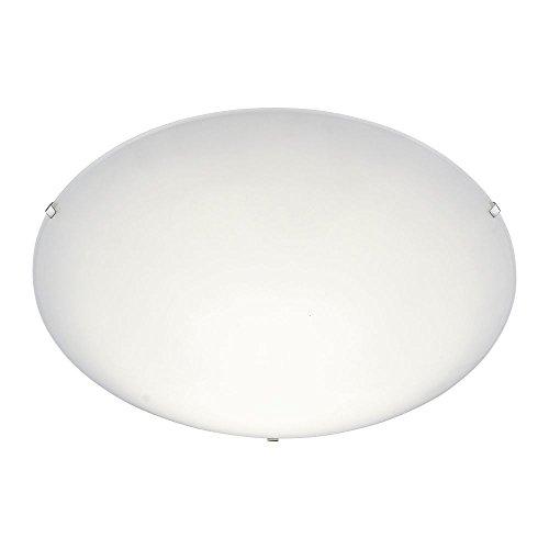 LED-Deckenleuchte aus satiniertem Glas Opalglas, runde Glas-Deckenlampe dimmbar, Wohnzimmer Schlafzimmer, 3 Stufen-Dimmer Ø 40 cm Glasschirm weiss, 1760 Lumen, 3000 Kelvin warmweiss, 20W - Runde, Weiße Glasschirm