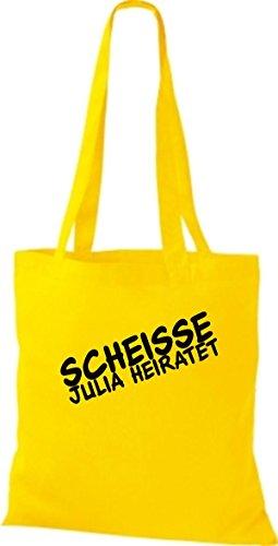 Shirtstown Stoffbeutel JGA Scheisse ... Heiratet viele Farben gelb