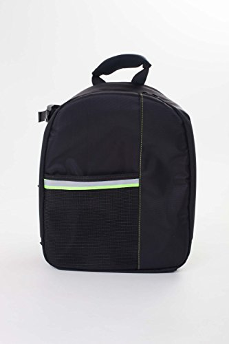 vhbw Polyester Kamera-Rucksack schwarz-grün für Panasonic SDR-S70, SDR-T50, SDR-T70, VDR-D50 -