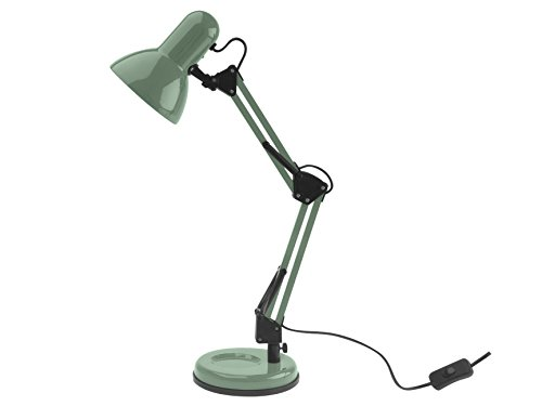 Leitmotiv LM1192 Lampe Lumière de Table Éclairage, Acier, E27, 25 W, Vert, Taille unique