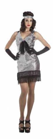 Imagen de disfraz de charleston plata para mujer