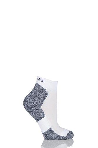 Damen 1 Paar Thorlos Lite Lauf Thin Cushion Mini Crew Socken In 2 Farben - 5.5-7.5 Ladies - Weiß -