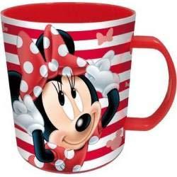 Becher mit Henkel, kompatibel zu Disney Minnie Maus Kinder Mikrowellen-Becher 360 ml -