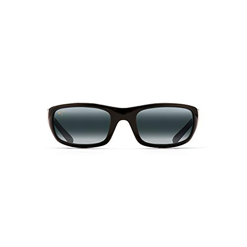 Maui Jim Stingray Gloss Black/Neutral Grey POLARIZED Sunglasses (MJ-Stingray-103-02-56)