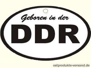 Lufterfrischer DDR weiß schwarz in Duftnote Rose | DDR Produkte | DDR Geschenk