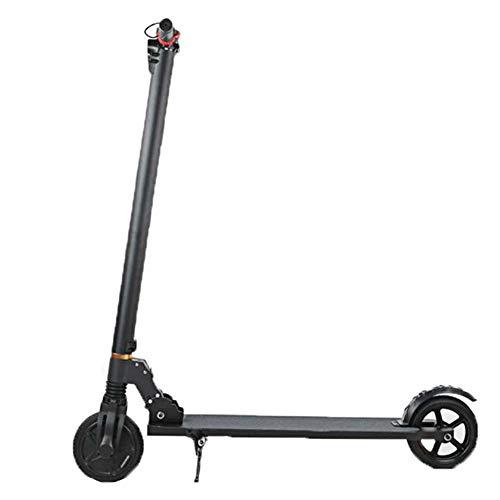 H&YL Elektro Scooter,Intelligent Elektroroller Faltbarer Leichten Transport LED Front Licht Mit Farbdisplay Unisex Kick Scooter Schwarz,Battery~10.4A