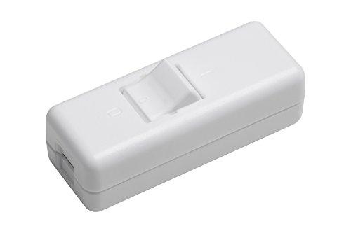 Meister Schnur-Zwischenschalter 2-polig, 10 A, Zugentlastung/Schutzleiterklemme, weiß, 7441260