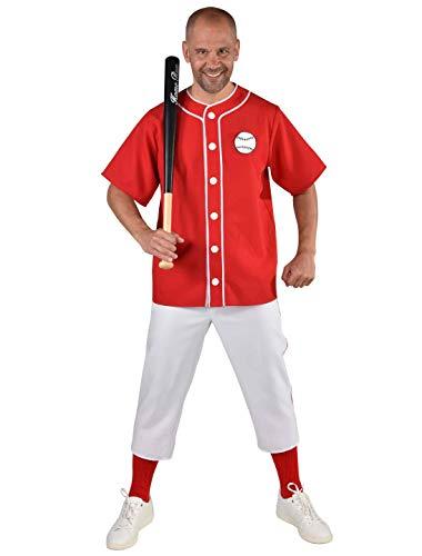 Baseball Zubehör Kostüm Spieler - MAGIC BY FREDDYS Baseball-Spieler 2-TLG. S