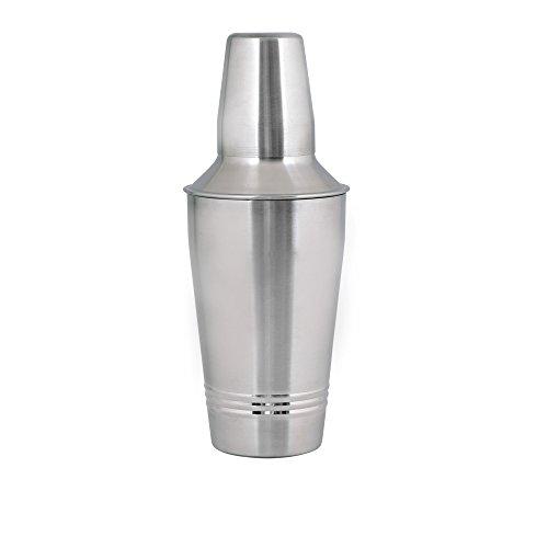 Kosma Edelstahl Cocktail Shaker   Drink Shaker   Martini   Mocktail Shaker Rippenbauweise - 500 ml