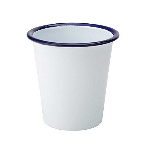 UTOPIA Servieren Topf Emaille 11.5oz/330ml–Stahl Chip Cup mit Weiß Email Beschichtung (Emaille Sauce Topf)