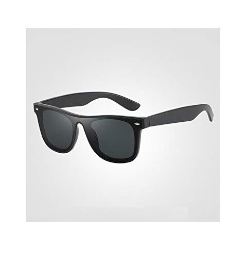 New Ultra-Light TR Mode-Klassiker Sonnenbrillen Trend großen Rahmen Vollformat Objektiv bunten Sonnenbrillen UV400 Brille (Color : Black2)