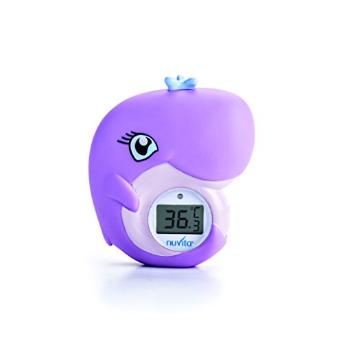 NUVITA 1007 WAL 2 IN 1 Digitales Badewasser&Zimmerthermometer - Sicheres Wasser Badespielzeug (EN71 konform) – WAL Design Baby Badethermometer Zimmerthermometer Baby - Italienisches Design
