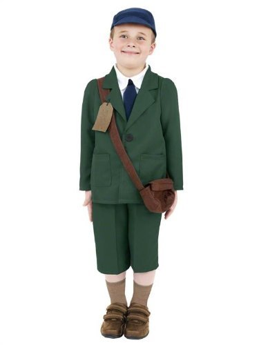 2 II WW2 Evacuee Wartime Fancy Dress Costume 4-12 yrs LARGE by Star55 (Children's World War 2 Kostüme)