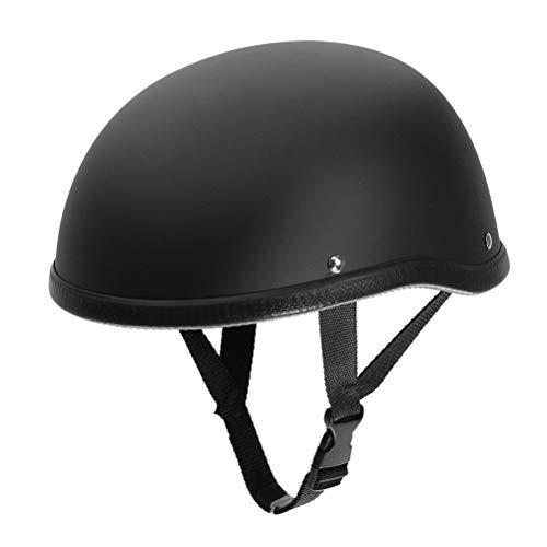 Preisvergleich Produktbild Motorcycle Half Helmet for Harley, Open Face Helmets Skull Cap Hat For Chopper Matt Black