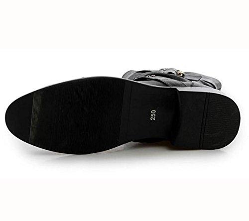 Die neuen Chelsea-Stiefel Stiefel Stiefel High-Top-Stiefel Herren-Stiefel Motorradstiefel zeigten höher Black
