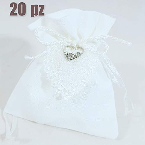 20 SacchettI PORTACONFETTI MATRIMONIO fai da te o kit confetti (20 sacchetti fai da te)