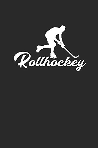 ROLLHOCKEY: Notizbuch Hockey Notebook Roller Journal squared 6x9 Journal kariert
