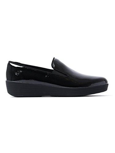 FitFlop Donna All Nero Tassel Superskate Cuoio Loafers BLACK PATN