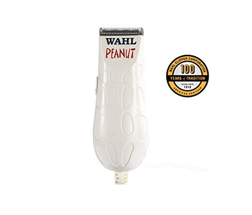 Wahl Peanut Professional Corded Clipper/Trimmer Classic White - Made in USA - 220-230Volt