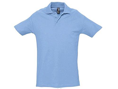 ATELIER DEL RICAMO Herren Poloshirt * Einheitsgröße Himmelblau