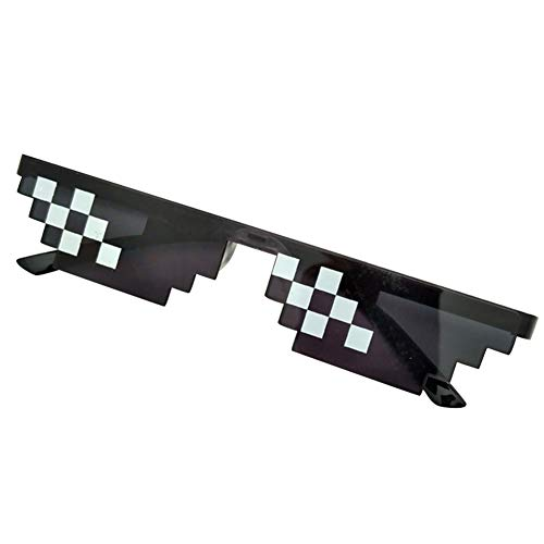 Cutogain  Brillen, MLG Pixelated, Thug Life, Mosaik, Frauen, Männer, Männer Frauen MLG Pixelated Sonnenbrillen Thug Life Party Brillen Mosaik Vintage Eye Wear