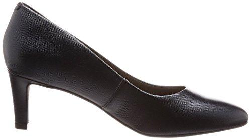 Clarks Calla Rose - Black Leather Black