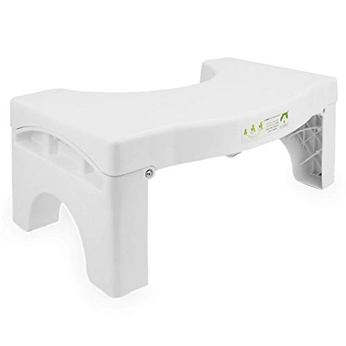 Klappbarer Hocker für die Toilette | Medizinisch getestet und bewährt, um Stuhlgang zu helfen Anti-Rutsch-Bad Step Up | M & W