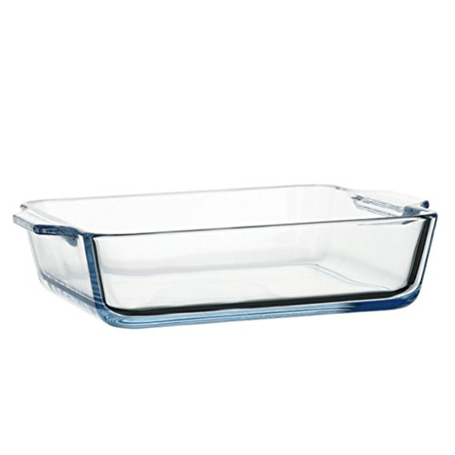 XINGUANG Hitzebeständigem Glas binauralen Glas käse Risotto schüssel mikrowelle backblech glasplatte 15 cm * 12,5 cm -