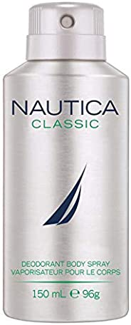 Nautica Classic Deodorant Body Spray for Men, 150 ml