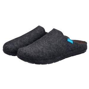Simba Akupressur-Hausschuhe aus echter Wolle für Herren, Grau, 41 | Höchster Komfort | Reflexzonen