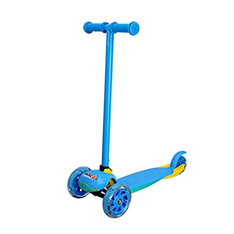 Fascol Children's Scooter Foldable Kick Scooter for 2 - 5 years, Flashing 3 Wheels, Perfect Unique Christmas Gift children, Blue