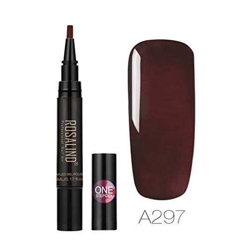 Beisoug Sexy Bestes Geschenk für Frauen Neueste 3 In 1 Gel Nagellack Pen Glitter Ein Schritt Nagel Gel 24 Farben Perfekt für Party