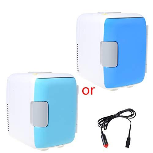 Youliy Mini-Kühlschrank-Kühler und Wärmer für den Doppelgebrauch, extrem leise, Kompatibilität mit Wechselstrom und Gleichstrom, 4 l Fassungsvermögen blau