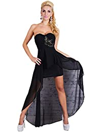 Schwarzes abendkleid mit strass