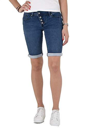 Buena Vista Jeans Malibu-Short Sweat Denim 2 Farben Middle Blue/Mittelblau XS
