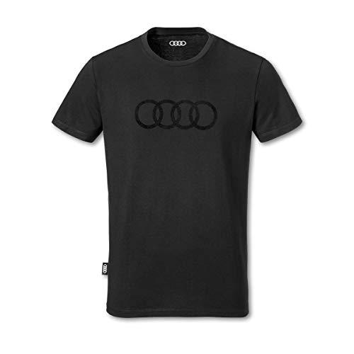 Audi Herren T-Shirt Ringe schwarz (XL)