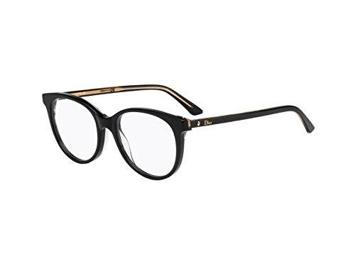 Dior Brillen Für Frau MONTAIGNE16 NSI, Black / Crystal Kunststoffgestell, 51mm